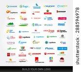 logotypes set. 50 logo design...   Shutterstock .eps vector #288596978