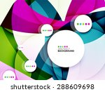 flowing shapes fresh business... | Shutterstock .eps vector #288609698