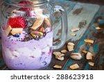 blueberry  strawberry smoothie... | Shutterstock . vector #288623918