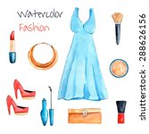 fashion set. hand drawn... | Shutterstock .eps vector #288626156