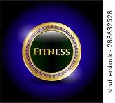 fitness shiny emblem   Shutterstock .eps vector #288632528