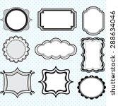 black label frames elegant... | Shutterstock .eps vector #288634046