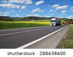trucks driving on the asphalt... | Shutterstock . vector #288638600
