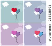set of backgrounds with heart... | Shutterstock .eps vector #288638936