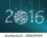 happy new year 2016 greeting... | Shutterstock .eps vector #288639449