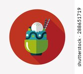 sundae flat icon with long... | Shutterstock . vector #288651719