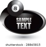 silver swoosh eight ball icon | Shutterstock .eps vector #28865815