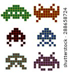 different shapes of pixels of...
