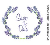 Circle Of Hand Drawn Lavender...