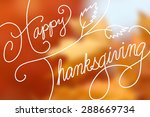 Happy Thanksgiving Text Design...