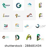 set of new universal company... | Shutterstock . vector #288681434