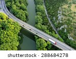 Aerial View Of The Bridge And...