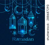 greeting card ramadan kareem... | Shutterstock .eps vector #288687293