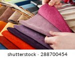 woman chooses scraps of colored ... | Shutterstock . vector #288700454