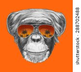 hand drawn portrait of monkey... | Shutterstock .eps vector #288702488