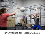 working out at the gym | Shutterstock . vector #288703118