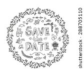 set of wedding ornaments and... | Shutterstock .eps vector #288705110