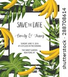 vintage wedding invitation with ... | Shutterstock .eps vector #288708614