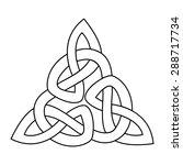 celtic triquetra knot  | Shutterstock .eps vector #288717734