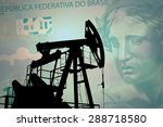 oil pump on background of... | Shutterstock . vector #288718580
