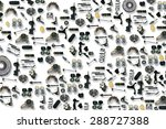 spare auto parts car on the... | Shutterstock . vector #288727388