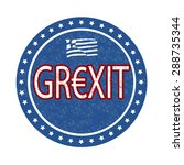 grexit grunge rubber stamp on... | Shutterstock .eps vector #288735344