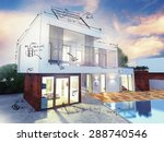 project of a luxury villa under ... | Shutterstock . vector #288740546