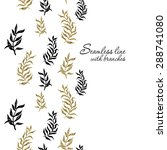 palm  fern  leaves seamless...   Shutterstock . vector #288741080