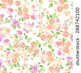 sunny pastel floral print  ...   Shutterstock .eps vector #288742100
