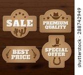 wild west vintage paper labels... | Shutterstock .eps vector #288742949