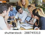 small business team meeting... | Shutterstock . vector #288745313