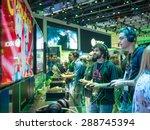 los angeles   june 16  gamers... | Shutterstock . vector #288745394