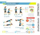 set of workout and gym... | Shutterstock .eps vector #288750650