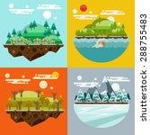 season background set | Shutterstock .eps vector #288755483