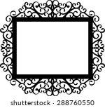 decorative frame silhouette in...   Shutterstock .eps vector #288760550