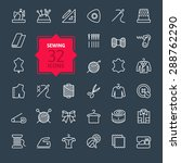 thin lines web icon set  ... | Shutterstock .eps vector #288762290