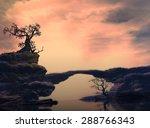 Illustration Of Landscape Of A...