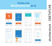 mobile app wireframe ui kit 16. ...