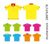 vector set of polo shirts ... | Shutterstock .eps vector #288769178