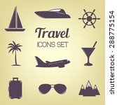 travel icons set. vector... | Shutterstock .eps vector #288775154