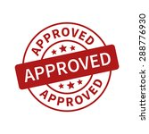 approved stamp  label  sticker... | Shutterstock .eps vector #288776930