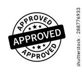approved stamp  label  sticker...   Shutterstock .eps vector #288776933