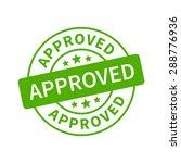 approved stamp  label  sticker...   Shutterstock .eps vector #288776936