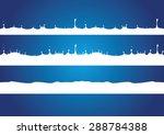 a splash of milk. vector... | Shutterstock .eps vector #288784388