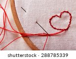 the embroidery hoop with canvas ... | Shutterstock . vector #288785339