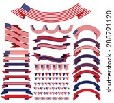ribbon set . bunting pennants... | Shutterstock .eps vector #288791120