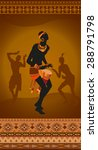 ethnic vintage ornament... | Shutterstock .eps vector #288791798