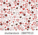 background with graphic heart | Shutterstock . vector #28879513
