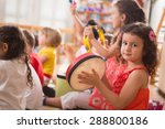 a group of preschool children... | Shutterstock . vector #288800186