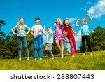 happy children outdoors | Shutterstock . vector #288807443
